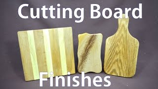 Wooden Cutting Board Finishes - A Woodworkweb Woodworking Video