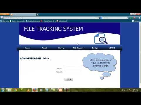 PHP Project File tracking system 2016