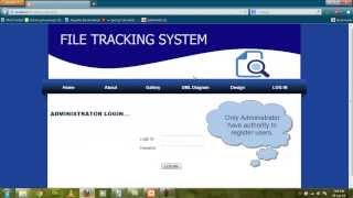 PHP Project File tracking system 2014