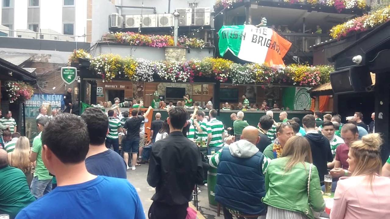celtic fans in the living room dublin youtube