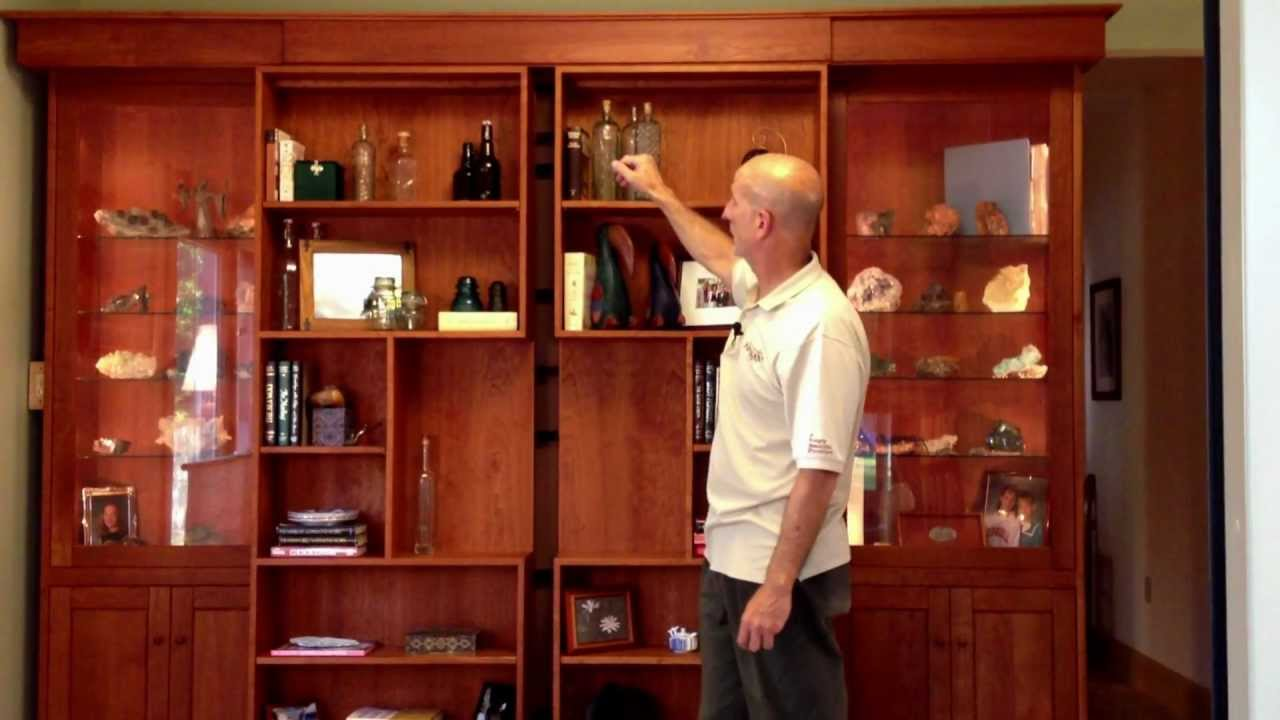 Hardwood Artisans Library Wall Bed   YouTube