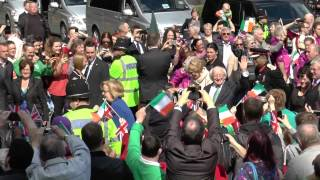 President Higgins of Ireland visits Coventry Cathedral 11 April 2014