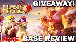GIVEAWAY! BASE REVIEWS! MAGIC BOOKS! DARK ELIX FARM! Clash of Clans