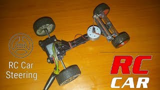 How To Make A Simple RC CAR | With Steering | Battery Powered RC Car