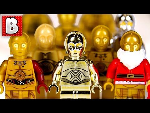 Every Lego C-3PO Minifigure Ever!!! + Rare Gold Chrome C-3PO | Collection Review