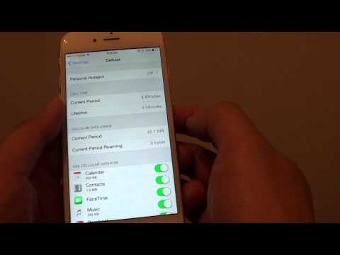 IPhone 6: How To Monitor Cellular Data Usage