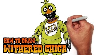 How to Draw Withered Chica | Five Nights at Freddy
