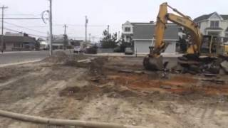 Collecting scrap. House demolition Wildwood Crest New Jersey
