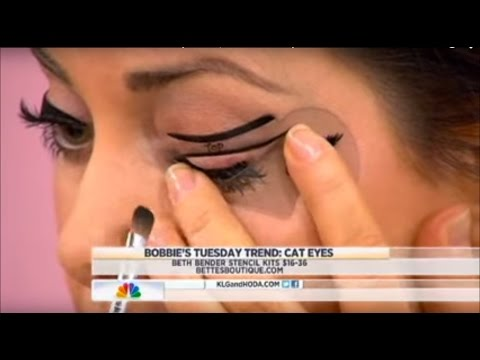 Beth Bender Beauty Eyeliner Stencils on NBCs TODAY Show with Bobbie Thomas | Beth Bender Beauty