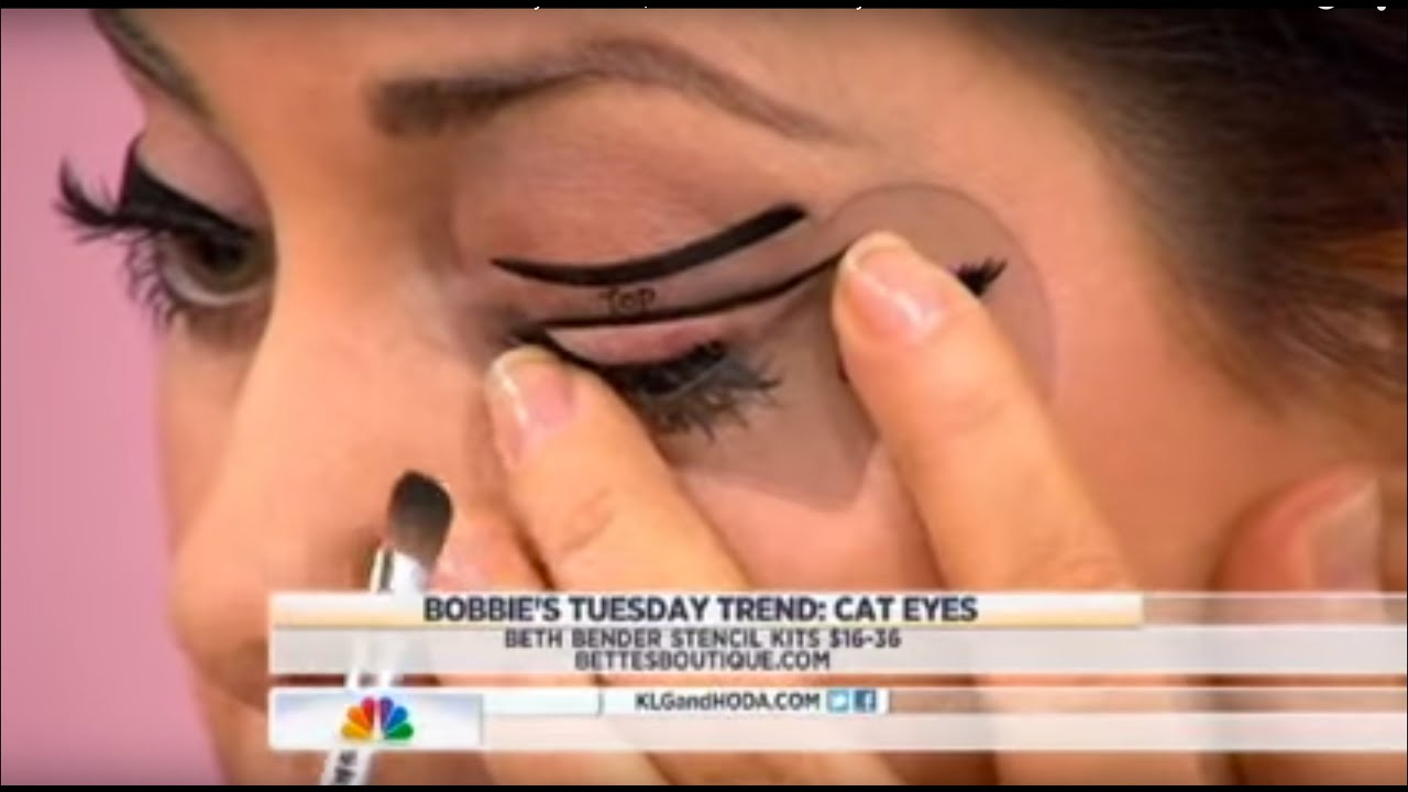 Beth Bender Beauty Eyeliner Stencils on NBC's TODAY Show with Bobbie Thomas | Beth Bender Beauty