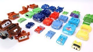 Cars Mater Building McQueen and Friends Block Toys Assembly Video for Kids