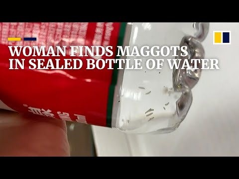 Woman finds maggots in sealed bottle of water in China
