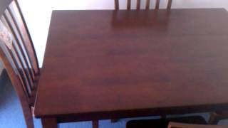 Solid wood,Crown Mark table and 4 chairs