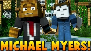 MICHAEL MYERS IS COMING TO KILL US   Minecraft - Mod Battle