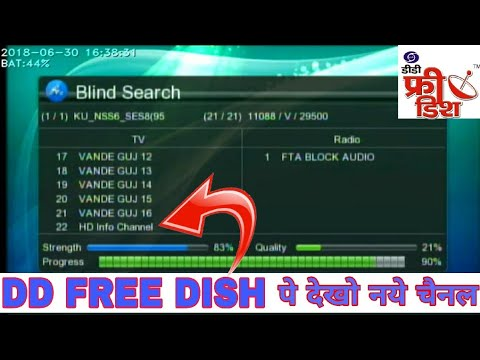 Dd free dish new channel list & latest update 30/06/2018