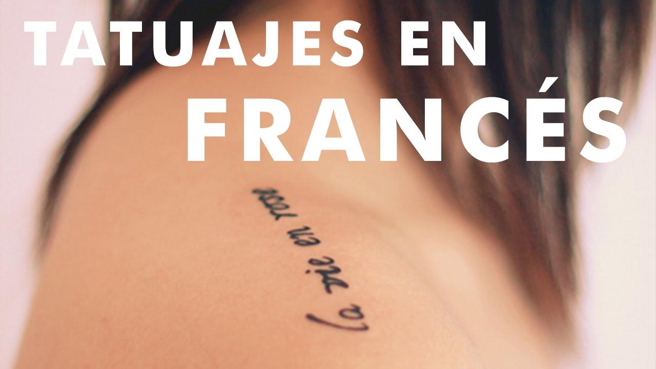 Pequeños Tatuajes En Francés