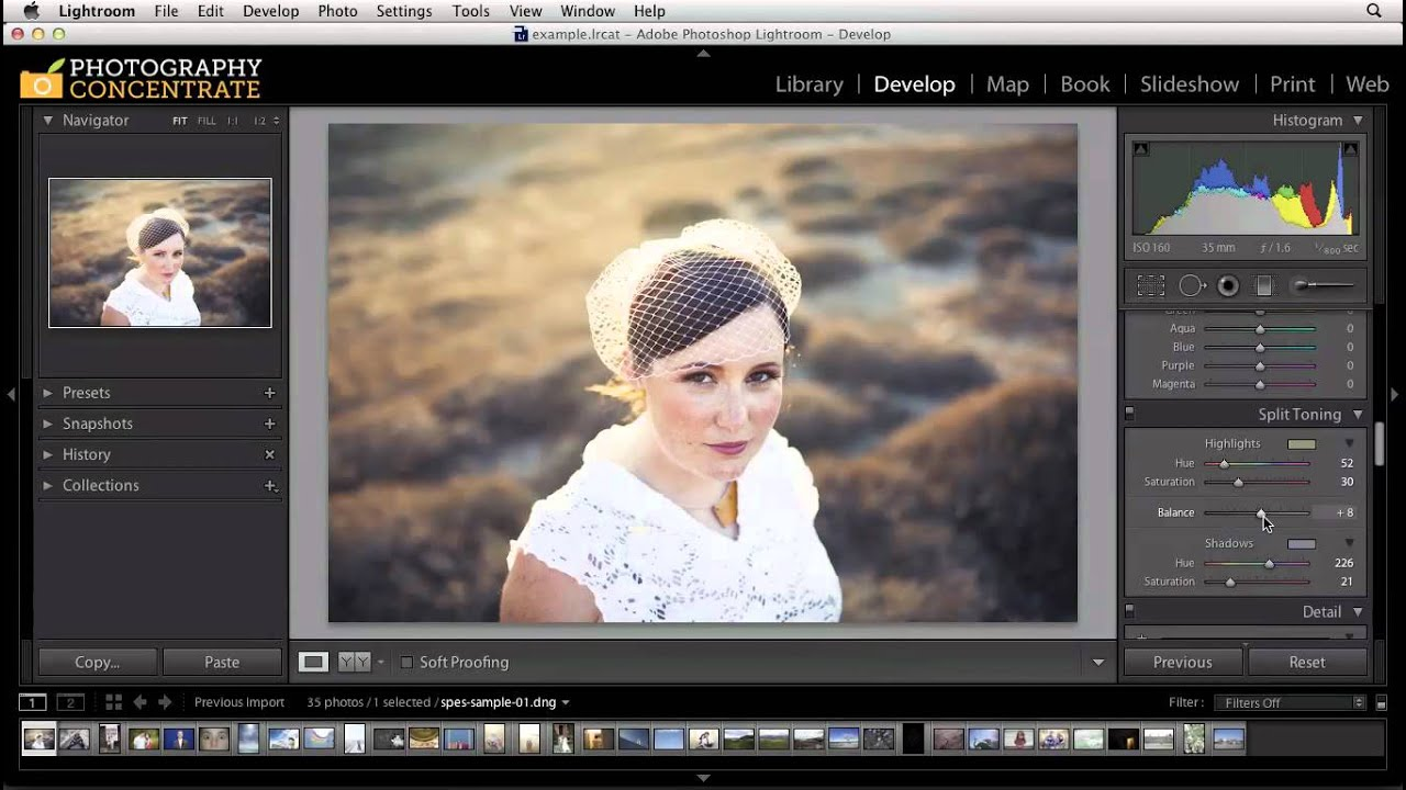 Adobe Lightroom Color Toning With The Split Toning Panel