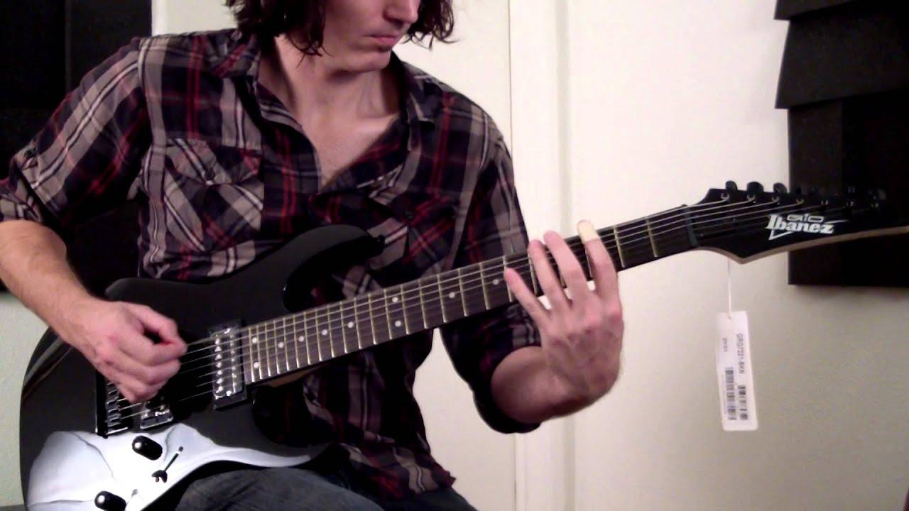 Ibanez Grg Demo Black Night 7 String Electric Guitar W