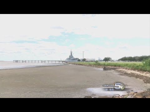 Low Water Levels Seen in Mobile Bay