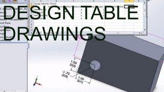 E16 Solidworks 2012 - Design Tables Excel