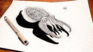 Cuttlefish: Liner Drawing Speedpaint