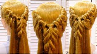 Прическа в школу на длинные и средние волосы  School hairstyle for long and medium hair