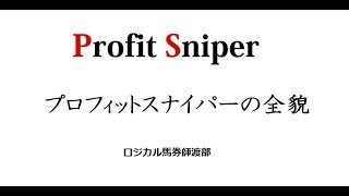 Profit Sniper講座3【プロフィットスナイパーの全貌】
