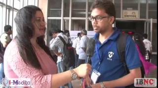 Vishal Sharma, student of Central University of Haryana, speaking about the platform of IBNC India