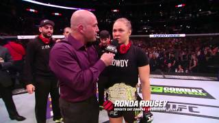 UFC 184: Ronda Rousey Octagon Interview