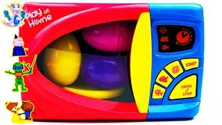 Learn Colors with Microwave Surprise Eggs Toys Nursery Rhymes Songs Video For Kids
