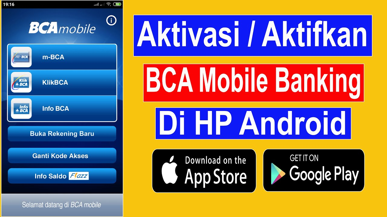 Cara Aktivasi Bca Mobile Di Android Youtube