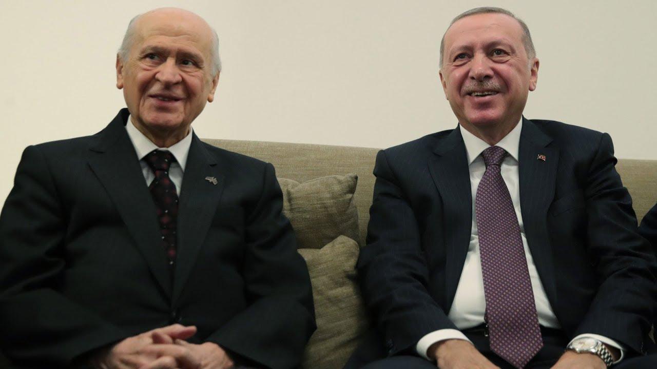 Cumhurbaşkanı Erdoğan, Meclis'te Devlet Bahçeli ile görüştü - YouTube
