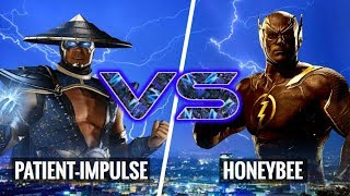 HE KEPT BLOCKING MY UNBLOCKABLE SET UP! HoneyBee (Flash) vs Patient-Impulse (Raiden)