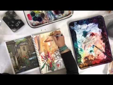 watercolor sketching france with trish mckinney