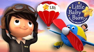 Song About Planes | Nursery Rhymes | Original Song By LittleBabyBum