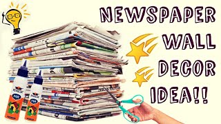 Paper Craft - How to make paper wall hanging decoration/ newspaper wall hanging/unique wall hanging