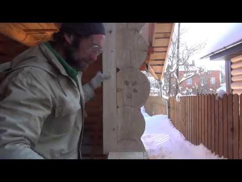 Окосячка в деревянном доме своими руками видео