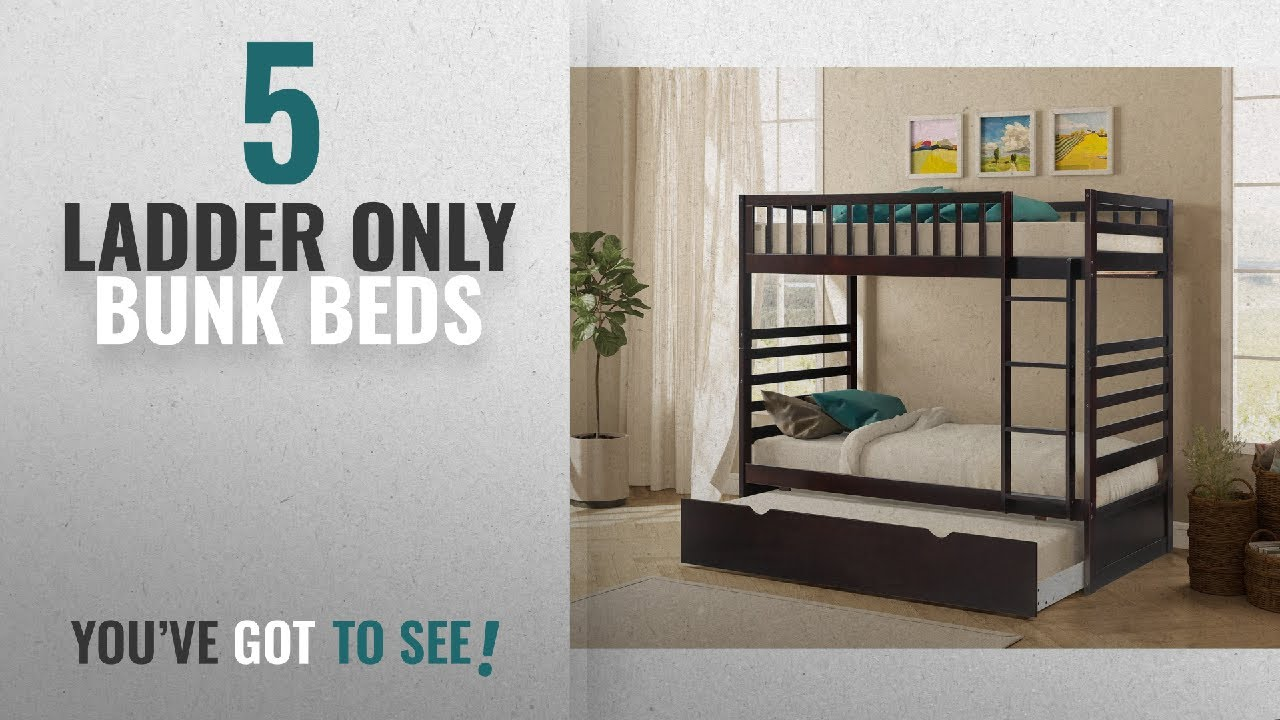 Top 10 Ladder Only Bunk Beds 2018 Merax Twin Over Bed With Trundle In Espresso Finish