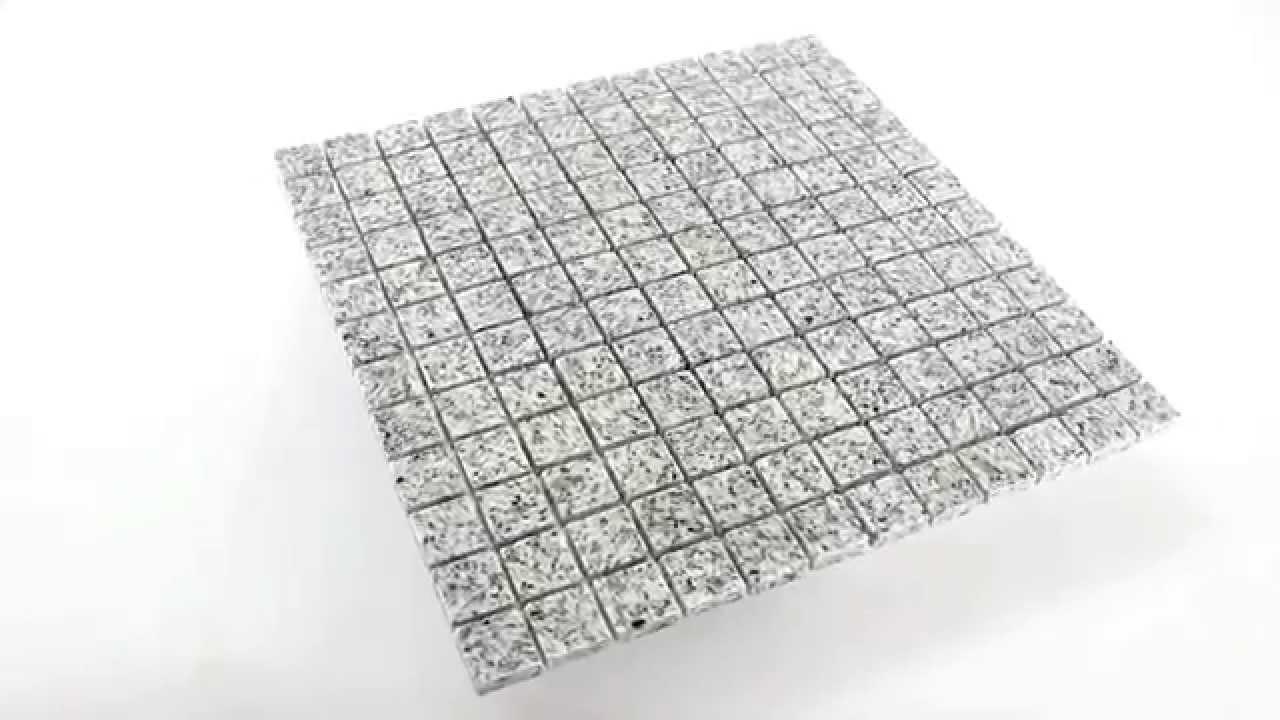 granit mosaik fliesen kashmir white youtube. Black Bedroom Furniture Sets. Home Design Ideas