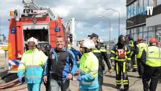 Brandweerwedstrijden op bedrijfsterrein Oude Maasweg Rotterdam