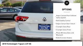 2018 Volkswagen Tiguan Thousand Oaks CA VW22829