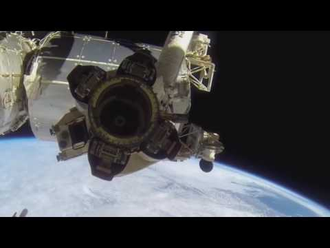 Earth from outer space, the moon and space debris?