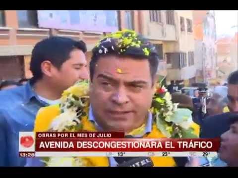La Paz: Revilla inauguró la Av. Apumaya y con ello inicia conmemoración de fiestas julianas