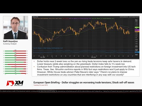 Forex News: 26/06/2018 - Dollar struggles on worsening trade tensions; Stock sell-off eases