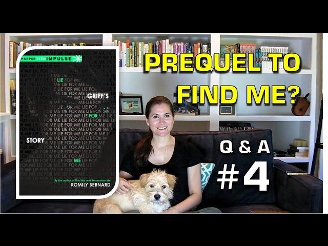 Q&A4: Prequel to FIND ME?