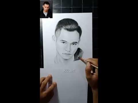 Vẽ chân dung anh Độ Mixi | vẽ chân dung truyền thần | KC art