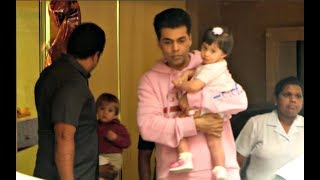 Karan Johar Son Yash And Daughter Roohi At Tusshar Kapoor Son Lakshya 2nd Birthday Party