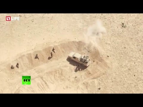 Drone buzzes Syrian Army advance on ISIS positions near Damascus
