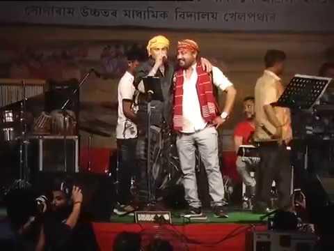 At Stage Barixare Banot & Pedel Mari Mari By Zubeen Garg & Babu 2k18