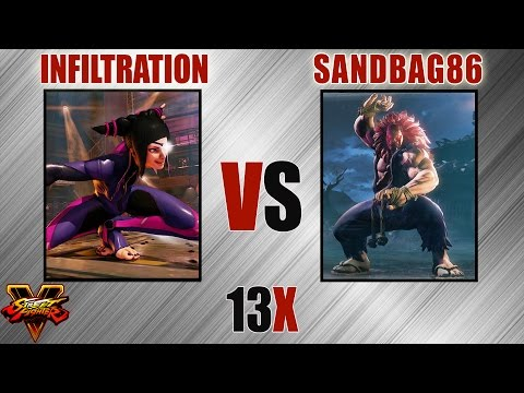 SFV - Infiltration [Juri] VS SandBag86 [Akuma]